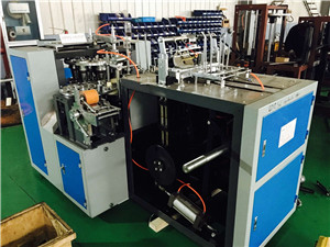 Ultrasonic Paper Cup Making Machine , 50HZ Paper Cup Forming Machine