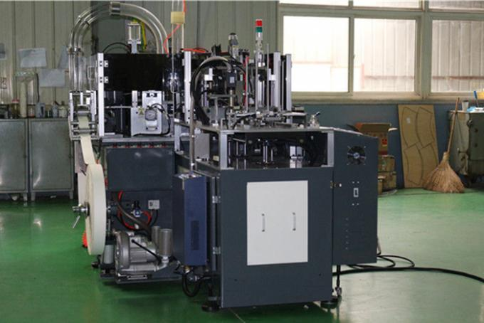 Single / Double PE Coated Paper Cup Making Machine 0.4mpa Hot Air System disposable paper cup forming machine
