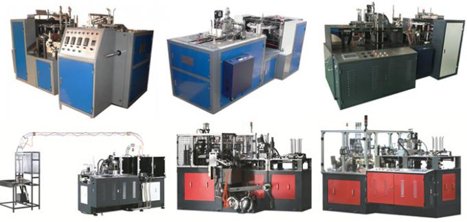 Safety Disposable Paper Coffee Cup Making Machine , Automatic Paper Cup Forming Machine