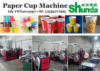 चीन High Gram Material Paper Tea Cup Making Machine 380V 50HZ 4.8KW Tea And Ice Cream Cup Hot/Cold Drink Cup Making Machine फैक्टरी