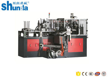 चीन Mistubishi PLC 135-450GRAM Disposable Cup Sleeve Making Machine 70-80PCS/MIN वितरक